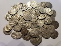 (1) 1533-1584 Silver Denga Coin / Russia Ivan IV 'The Terrible' Medieval Ancient