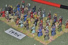 25mm medieval / turkish - seljuk archers 36 figs - inf (14916)