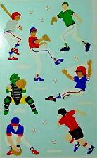 Mrs Grossman BOYS BASEBALL Sticker Sheet of Boys Playing Baseball