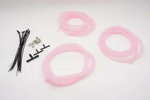 AUTOBAHN88 Engine Silicone Air Vacuum Hose Dress Up Kit CLEAR PINK Fit mazda