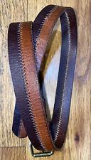 New listing Boys M Designer 2 Toned Brown 33� Dress Belt