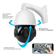 30X Optical Zoom 4MP IP PTZ Dome Security CCTV Camera SONY CMOS Onvif Card Slot