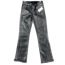 bf616e59102 J BRAND Womens Selena Mid Rise Crop Foiled Chrome Jeans Size 23 Silver  Bootcut