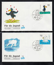 Germany 1999 First Day Cover  -  Cartoons Character of 5 beautiful FDC