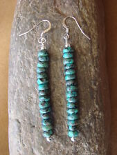 Native American Navajo Jewelry Hand Beaded Turquoise Earrings