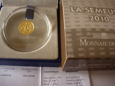 R COFFRET SEMEUSE 2010 5 EURO OR GOLD MONNAIE DE PARIS FDC BU RARE