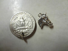 Sterling Silver .925 Horse Equestrian Head with Bridle 3D Charm