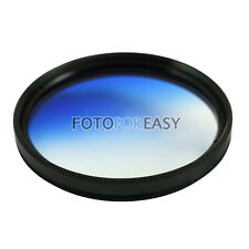 58mm Graduated Blue ND Lens Filter Round Screw Mount