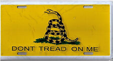 "Tea Party Gadsden Don't Tread on me Yellow/Yellow 6""x12"" Aluminum License Plate"