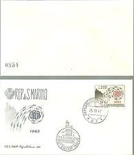 BUSTA FDC SAN MARINO CAPITOLIUM 1962  EUROPA lire 200 PRIMO GIORNO