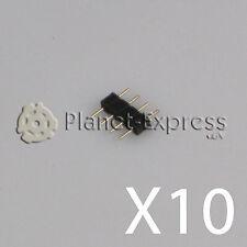 10 x Conectores 4 pines macho / macho para la unión de tiras led RGB. Union SMD