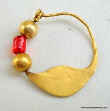 23k gold nose ring nosepin pendant vintage antique tribal bellydance indian