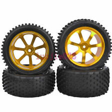 RC 1:10 Off-Road Car Buggy Front &Rear Rubber Tyre Tires Metal Wheel Rim M07G9