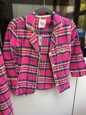 Gilly Hicks Pyjamas Plaid Pink Top Size S Pant Size M