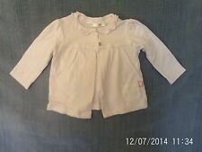 Baby Girls 3-6 Months - Pink Cotton Matinee Jacket/ Cardigan - M&Co