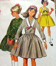 LOVELY VTG 1960s GIRLS' DRESS Sewing Pattern 8