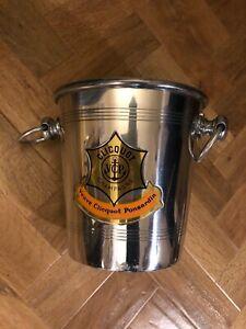 Vintage Veuve Clicquot Ponsardin champagne metal ice bucket Used