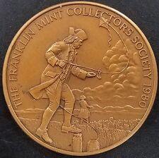 1980 Franklin Mint Collector's Society, Ben Franklin token! 45 mm, 45 grams!
