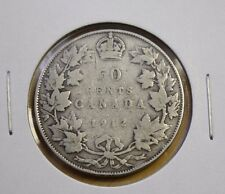 Canada 1912 50 Cents Silver VG
