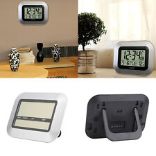 Self Setting Digital Home Office Decor Wall Clock With Indoor TemperatuUB