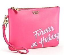 Victorias Secret FOREVER ON HOLIDAY Cosmetic Makeup Bag Clutch Wristlet NWT
