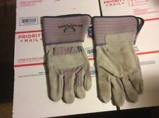 TOP GUN  HEAVY DUTY LEATHER PALM WORK GLOVES (LARGE)