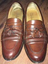 Bragano Cole Haan Made in Italy Men's Tassle Loafers Brown Dress Shoe size 11