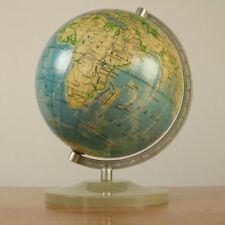 Physikalischer Tisch Erd Globus Polen 1977 ∅16 cm Vintage Polish Earth Globe
