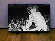 """JIM MORRISON THE DOORS Arte Ritratto in Ardesia 12x8"""" rara collezionismo cimeli"""