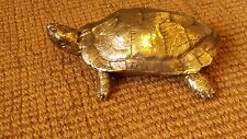 Gold Terrapin Tortoise made of Resin Golden Turtle Sculpture