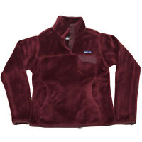 PATAGONIA Synchilla Maroon Snap - T Pullover Fleece Womans size Small