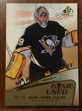 2003-04 SP GAME USED SP ROOKIE DEBUT TIER 2 GOLD MARC ANDRE-FLEURY #91 18/25