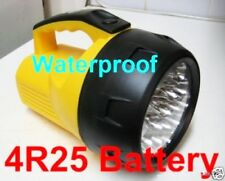 Powerful 16 Led Torch Waterproof 6V large Battery continuous lighting one week
