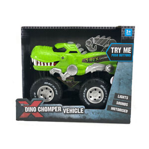 Xtreme Dino Chomper Vehicle Music Sounds Lights Play Toy Xmas Gift for Kid's FF