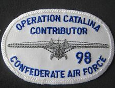 Operation Catalina Contributor Confederate Air Force Patch 1998