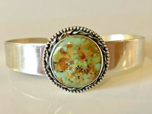 Vintage Jay King Sterling Silver Turquoise Cuff Bracelet 925 DTR