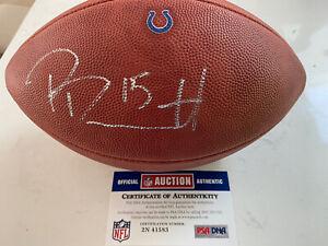 """Phillip Dorsett Signed """"The Duke"""" Wilson Football with Colts logo PSA/DNA COA"""