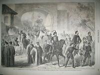 TURQUIE CONSTANTINOPLE CARAVANE LA MECQUE TEMPLE CAADA VUE ROME GRAVURES 1861
