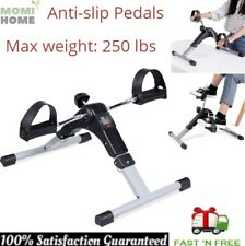 Portable Foot Pedal Exerciser Bike Mini Arms Legs Cardio Equipment Gym Fitness