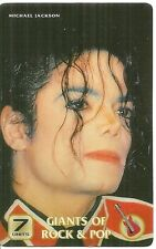 RARE / CARTE TELEPHONIQUE PREPAYEE - MICHAEL JACKSON / PHONECARD TELECARD