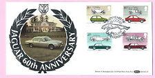 BENHAM 1982 FDC - JAGUAR - BRITISH MOTOR CARS -  Shs 60 YEARS OF JAGUAR Coventry