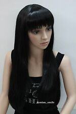 USJF10073 new style popular black long straight hair lady's wigs for women wig