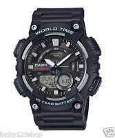 AEQ-110W-1A Black Casio Men's Watches Standard 10-Year Battery AE-Q110W