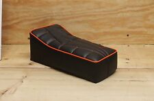 "14"" X 7"" BLACK/ORANGE MINIBIKE SEAT SCOOTER MINI BIKE MUSTANG PAK JAK POWELL MTD"