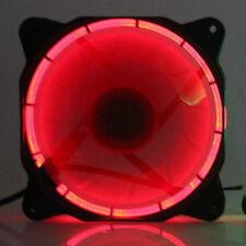 Eclipse Red LED 12V 12cm 120mm 120x120x25mm PC CPU Case Cooling cooler Fan