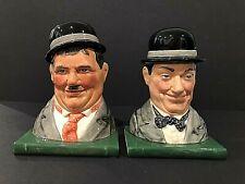Royal Doulton 'Laurel & Hardy' D7119/D7120 1998 Bookend Pair 509/2500-Very Rare