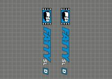 CANNONDALE Headshok Fatty SL D Forks Decals Stickers Graphic Set Adhesive Blue