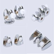 2/4 Pcs Glass Shelf Support Holder Wall Mount Brackets Clip Polished Shelves