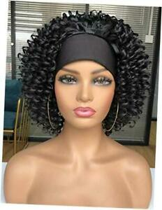 Headband Curly Wigs for Black Women 11inch short Water Wave Curly Headband 1B