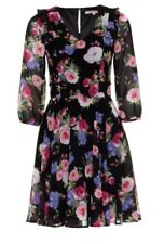 Black Review Floral Dress With Sleeves
